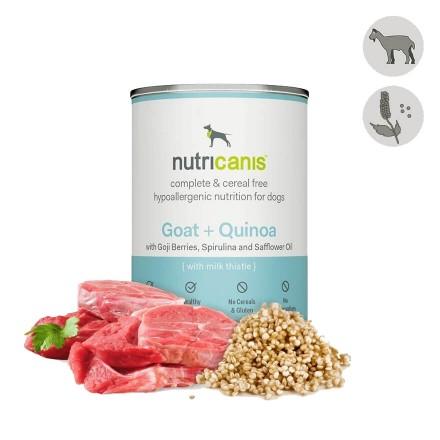 Nat hondenvoer voor volwassen honden: 400g geit + quinoa