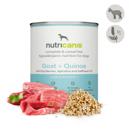 Nat hondenvoer voor volwassen honden: 800g geit + quinoa