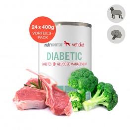 Nat hondenvoer voor volwassen honden: 24 x 400g Diabetes