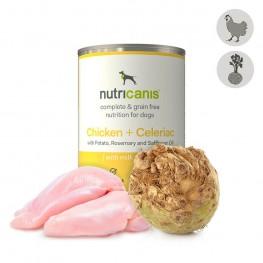 Hypoallergeen natvoer voor honden: 400g Kip + Knolselderij