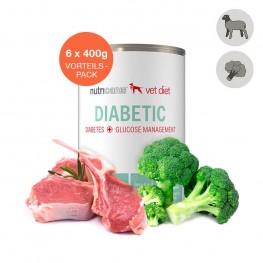 Nat hondenvoer voor volwassen honden: 6 x 400g Diabetes