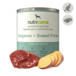 Hypoallergeen natvoer voor honden: 800g Kangoeroe + Zoete Aardappel