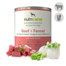 Hypoallergeen natvoer voor honden: 800g Rundvlees + Venkel