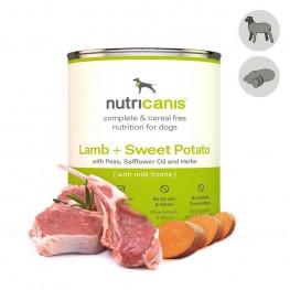 Nat hondenvoer voor volwassen honden: 800g lam + zoete aardappel met mariadistel