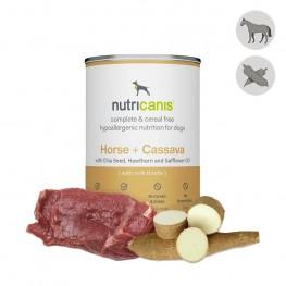 Nat hondenvoer voor volwassen honden: 400g paard + cassave
