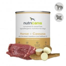 Nat hondenvoer voor volwassen honden: 800g paard + cassave