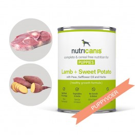 Puppyvoer voor honden: 400g lam + zoete aardappel